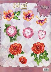 HI 3d-kuvat erilaisia kukkia