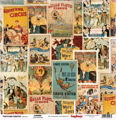 Scrapberry´s paperi Vintage Circus Posters 12x12
