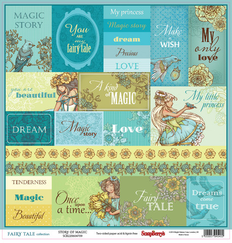 Scrapberry´s paperi Fairy tale Story of magic 12x12