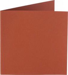 Neliökorttipohjat 13,5x13,5cm/10kpl ruosteenruskea