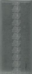 Ääriviivatarra suorat boordit ja kulmat hopea 842