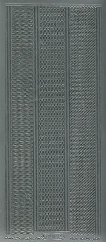 Ääriviivatarra monenlaisia boordeja hopea 1016
