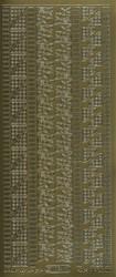 Ääriviivatarra kulmia ja boordeja kulta 1034