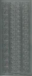 Ääriviivatarra kulmia ja boordeja hopea 1034