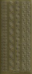 Ääriviivatarra pienet kulmat ja boordit kulta 1033