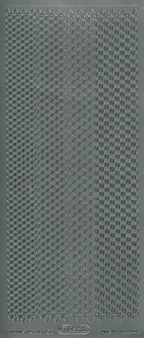Ääriviivatarra salmiakkiboordi hopea 1256