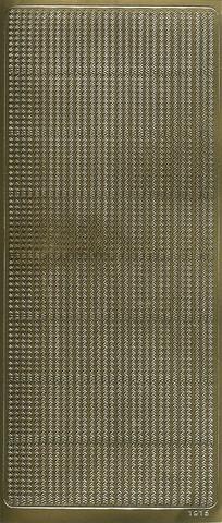 Ääriviivatarra pieni siksakboordi kulta 1915