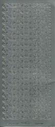 Ääriviivatarra koristeboodi hopea 1020