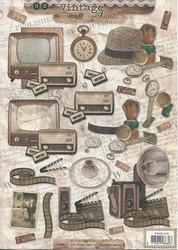 Studiolight 3d-kuvat Vintage line TV, hatut