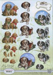 Amy design 3d-kuvat suloiset koirat