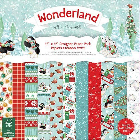Helz Cuppleditch paperikko Wonderland 12x12