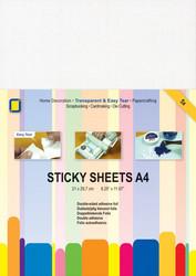 Sticky Sheets kaksipuoleinen tarrakalvo a4/5kpl