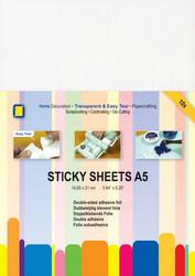Sticky Sheets kaksipuoleinen tarrakalvo a5/10kpl