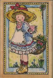 Penny Black puukantainen leimasin Gift of flowers
