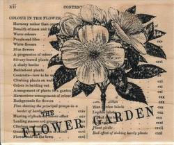 Penny Black puukantainen leimasin Flower Garden