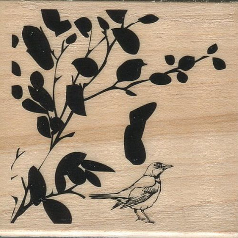 Hampton Art leimasin kasvi ja lintu
