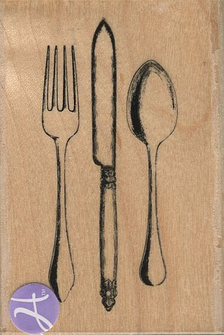 Hampton Art leimasin ruokailuvälineet