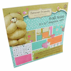 Forever Friends paperilehtiö Kraft notes 12x12