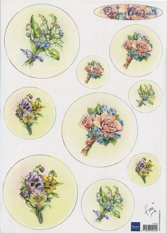 Korttikuvat Spring Bouquet kukat MD a4