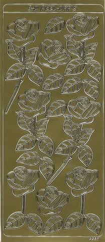 Ääriviivatarra 3d-ruusut kulta