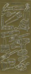Ääriviivatarra työkalut kulta