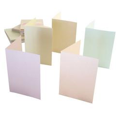 Helmiäiskorttipohjat ja kuoret Pastel a6 50kpl Anita´s
