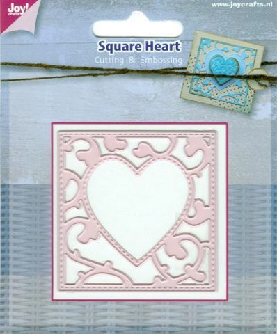 Joy Craft stanssi Square Heart