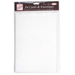 A4 korttipohjat ja kirjekuoret 4kpl valkoinen Anita´s