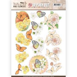 Jeanine´s Art stanssatut 3d-kuvat Butterflies and flowers