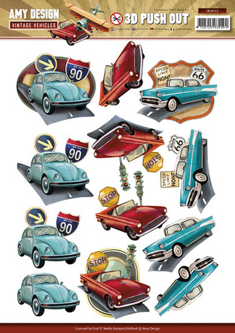 Amy design stanssatut 3d-kuvat Vintage vehicles