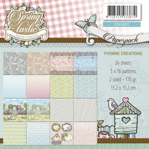 Yvonne Creations paperipakkaus Spring-tastic 6x6