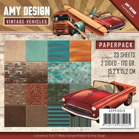 Amy Design paperipakkaus Vintage Vehicles 6x6