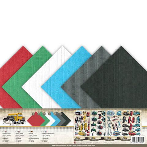 Amy Design yksiväriset kartongit Daily Transport 30,5x30,5