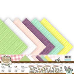 Yvonne Creations yksiväriset kartongit Spring-tastic 30,5x30,5