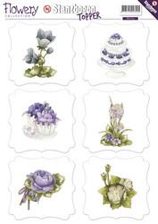 Precious Marieke Toppers stanssatut korttikuvat Flowery
