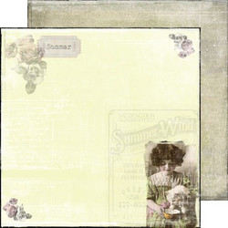 Reprint paperi Rose garden Summer wind