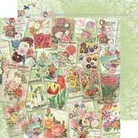 Reprint paperi Spring time Flower collage