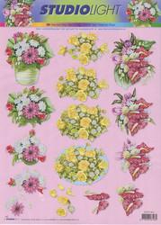 Studiolight 3d-kuvat kukkaasetelmia