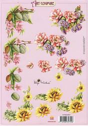 Art Coupure 3d-kuvat kukkakulmat