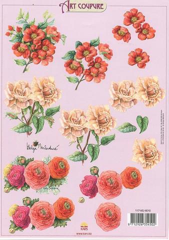 Art Coupure 3d-kuvat kauniita kukkia