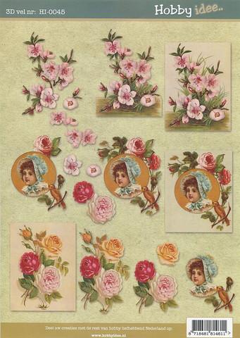 Hobby idee 3d-kuvat Vintage 45