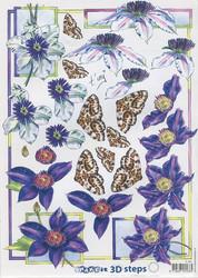 Marianne Design 3d-kuvat kärhöt ja perhoset