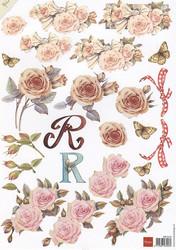 Marianne Design 3d-kuvat kauniita ruusuja