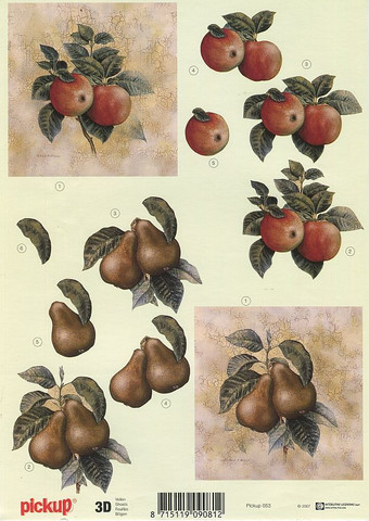 Pickup 3d-kuvat omenat ja päärynät