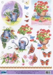 Top-hobby 3d-kuvat kesäiset kukat ja kastelukannu