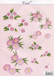 Ceciel 3d-kuvat kauniit vaaleanpunaiset kukat
