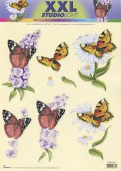 Studiolight 3d-kuvat xxl kukkia ja perhosia 948
