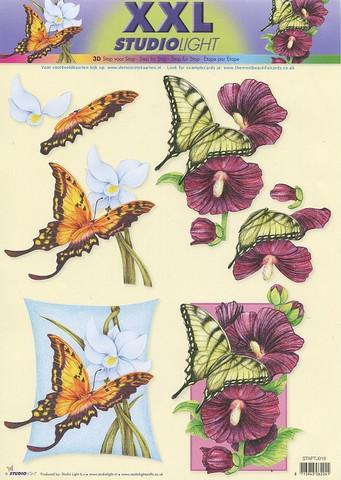 Studiolight 3d-kuvat xxl kukkia ja perhosia 918