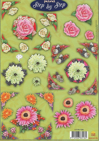 Step by Step 3d-kuvat kukkia ja kulmia