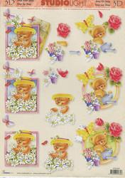 Studiolight 3d-kuvat nallet, perhoset ja kukkaset